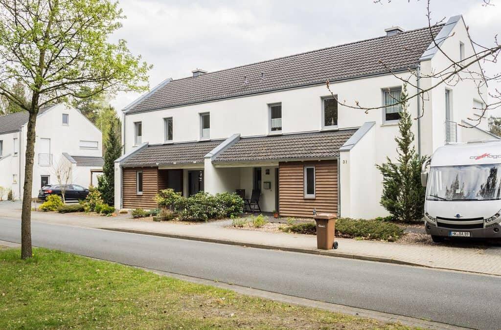 Doppelhaushälfte mit Putzfassade