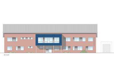 Zeichnung des Gebäudes der Polizei Munster